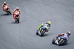 The Riders Jorge Lorenzo, Valentino Rossi, Dani Pedrosa and Marc Marquez during MotoGP in Catalunya Grand Prix world championship motorcycling. 15/06/2014. Samuel Roman/Photocall3000