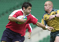 24/05/2002 (Friday).Sport -Rugby Union - London Sevens.Australia vs Portugal.David Mateus[Mandatory Credit, Peter Spurier/ Intersport Images].