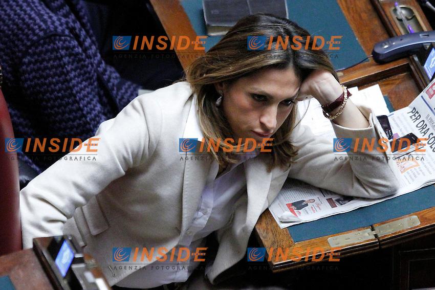 COMUNICAZIONI DEL NEO  PRESIDENTE DEL CONSIGLIO E VOTO DI FIDUCIA PER IL NUOVO GOVERNO..NELLA FOTO ELVIRA SAVINO..ROMA 18 NOVEMBRE 2011..PHOTO  SERENA CREMASCHI INSIDEFOTO..............................