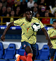 BOGOTA-COLOMBIA, 03-06-2019: Duván Zapata de Colombia en acción, durante partido amistoso entre Colombia y Panamá, en el estadio Nemesio Camacho El Campín en la ciudad de Bogota. / Duván Zapata of Colombia in action, during a friendly match between Colombia and Panama at Nemesio Camacho El Campin stadium in Bogota city. Photo / VizzorImage / Gabriel Aponte/ Staff.