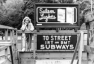 New York, New York USA, June 1979 - French singer Sylvie Vartan stands by a subway entrance while in New York City to promote her first American album.