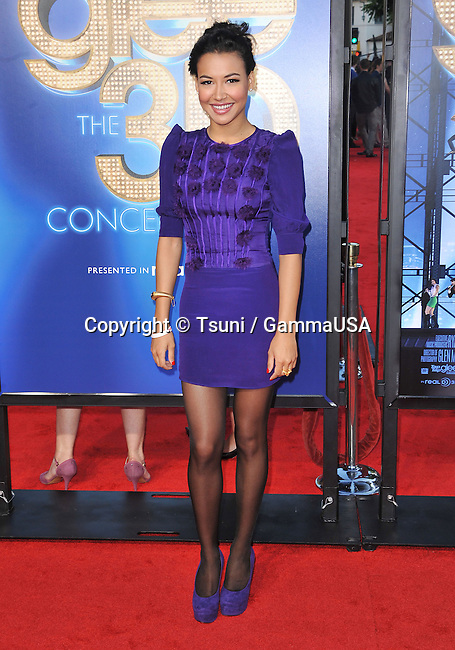 Naya Rivera at the GLEE The 3D Concert Movie Premiere at the Westwood Village Theatre In Los Angeles.