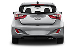 Straight rear view of a 2013 Hyundai Elantra GT Hatchback