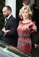 Jane Fonda leaving Martinez hotel during the 67th Annual Cannes Film Festival - France
