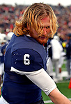 """November 23, 2019:  #6 QB Kurt Rawlings """"hypes"""" up his offense in a stunning comeback that mirrored 1968, the Yale Bulldogs defeat Harvard in double """"OT"""" 50-43.  Yale came from down 17 late in the fourth quarter, including recovering an onside kick with a minute left at the Yale Bowl in New Haven Connecticut.Dan Heary/Eclipse Sportswire/CSM"""