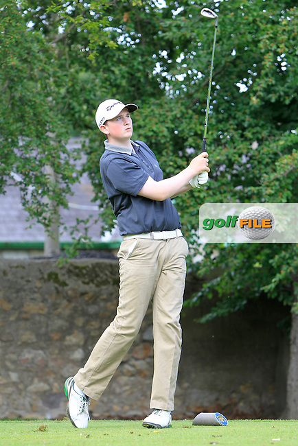 Sean Kestell (Charlesland) on the 2nd tee during Round 1 of the Grange Dublin Boys on Monday 21th July 2014.<br /> Picture:  Thos Caffrey / www.golffile.ie