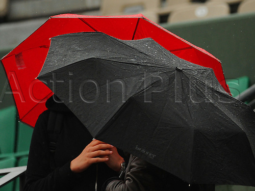 30.05.2016. Roland Garros, Paris, France.  Due to rain, all matches are cancelled at the French Open, day Nine,  Stade Roland Garros, Paris