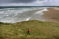 Surfers on Bundoran beach County Sligo, Ireland