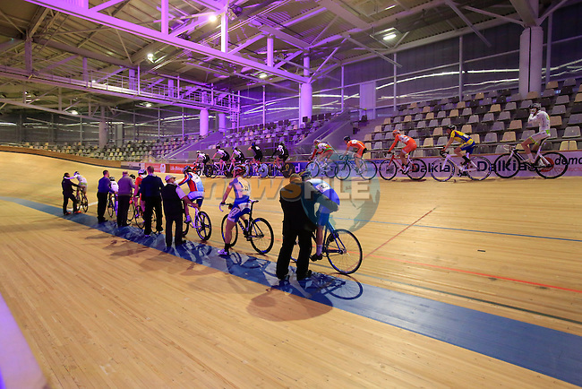 "Riders on track during ""La Nuit du Velo"" an evening on behalf of medical research held by DigestScience in Velodrome Couvert Jean Stablinski in Roubaix, France 5th April2013 (Photo by Eoin Clarke 2013)"