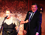 On Stage - Guiding Light's Kim Zimmer and Robert Newman headline Barn Theatre - A Celebration at Feinsteins/54 Below, New York City, New York on April 28. 2017. Barn Theatre is located in Augusta, Michigan.  (Photo by Sue Coflin/Max Photos)