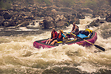 USA, Oregon, Wild and Scenic Rogue River in the Medford District, rafters running the Lower Grave Creek Rapid