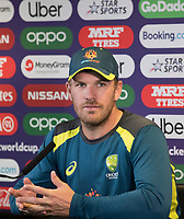 Aaron Finch (Australia) during a Press Conference at Edgbaston Stadium on 10th July 2019