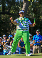 Kiradech Aphibarnrat (THA) winner of the ISPS Handa World Super 6 Perth at Lake Karrinyup Country Club on the Sunday 11th February 2018.<br />