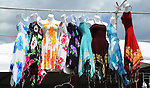 Colorful summer dresses for sale at Cheshire Fair in Swanzey, New Hampshire USA