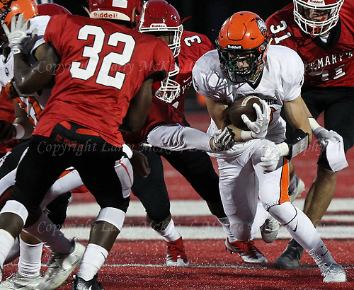 Birmingham Brother Rice defeats Orchard Lake St. Mary's 21-17 in varsity football action at St. Mary's Friday, Sept. 29, 2017.Photos: Larry McKee, L McKee Photography. PLEASE NOTE: ALL PHOTOS ARE CUSTOM CROPPED. BEFORE PURCHASING AN IMAGE, PLEASE CHOOSE PROPER PRINT FORMAT TO BEST FIT IMAGE DIMENSIONS. L McKee Photography, Clarkston, Michigan. L McKee Photography, Specializing in Action Sports, Senior Portrait and Multi-Media Photography. Other L McKee Photography services include business profile, commercial, event, editorial, newspaper and magazine photography. Oakland Press Photographer. North Oakland Sports Chief Photographer. L McKee Photography, serving Oakland County, Genesee County, Livingston County and Wayne County, Michigan. L McKee Photography, specializing in high school varsity action sports and senior portrait photography.
