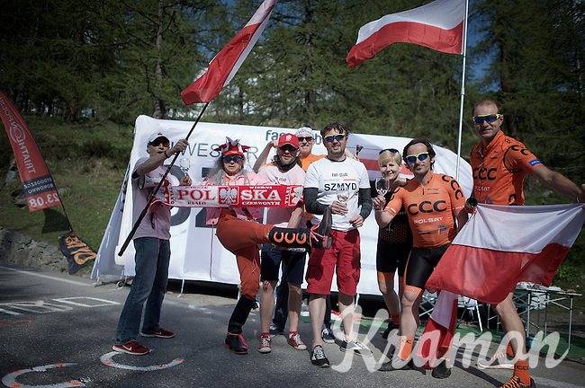 As more & more polish riders (& teams) are popping up in the procycling scene, so are polish fans. And they are loud.<br /> <br /> Giro d'Italia 2015<br /> stage 19: Gravellona Toce - Cervinia (236km)