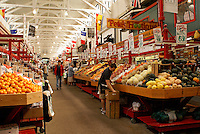 Interior of the Saint John City Market in the city of Saint John, New Brunswick, Canada