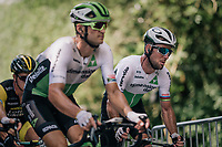 Mark Cavendish  (GBR/Dimension Data) up the last climb of the day in the very last grupetto<br /> <br /> Stage 5: Lorient &gt; Quimper (203km)<br /> <br /> 105th Tour de France 2018<br /> &copy;kramon