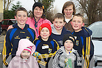 Wrapped up at the Beaufort 10k fun run in Beaufort on New Years DayKathleen Kelliher, Mary Cronin, Sean Kelliher, Sean Coffey, Conor Cronin, Padraig Cronin, Ciara Cronin and Oisin Cronin.