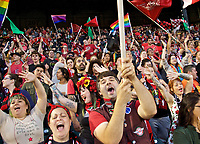 Portland, OR - Wednesday June 28, 2017: Thorns Supporters during a regular season National Women's Soccer League (NWSL) match between the Portland Thorns FC and FC Kansas City at Providence Park.