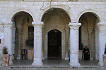 Israel, Lower Galilee, the Franciscan Church at Kafr Cana mark the place where Jesus performed his first miracle, turning water into wine for wedding feast