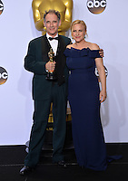 Mark Rylance &amp; Patricia Arquette at the 88th Academy Awards at the Dolby Theatre, Hollywood.<br /> February 28, 2016  Los Angeles, CA<br /> Picture: Paul Smith / Featureflash