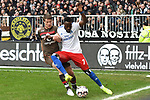 10.03.2019,  GER; 2. FBL, FC St. Pauli vs Hamburger SV ,DFL REGULATIONS PROHIBIT ANY USE OF PHOTOGRAPHS AS IMAGE SEQUENCES AND/OR QUASI-VIDEO, im Bild Daniel Buballa 8Pauli #15) versucht sich gegen Khaled Narey (Hamburg #07) durchzusetzen Foto © nordphoto / Witke