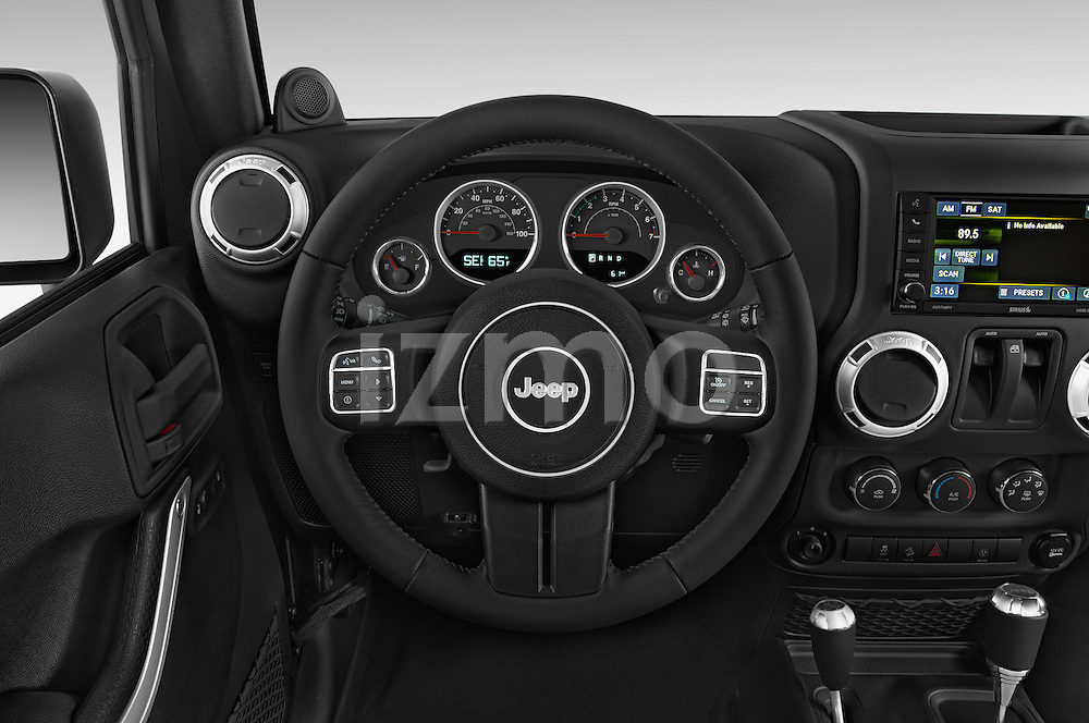 Car pictures of steering wheel view of a 2017 JEEP Wrangler Rubicon 5 Door SUV Steering Wheel