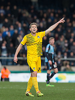 Lee Mansell of Bristol Rovers gives instructions during the Sky Bet League 2 match between Wycombe Wanderers and Bristol Rovers at Adams Park, High Wycombe, England on 27 February 2016. Photo by Andy Rowland.