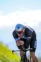 Rob Scarlett (Counties Manukau Cycling) senior men. Time trials on Day One of the 2018 NZ Age Group Road Cycling Championships in Carterton, New Zealand on Friday, 20 April 2018. Photo: Dave Lintott / lintottphoto.co.nz