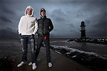 ROSTOCK, GERMANY - NOVEMBER 29: Brothers Andreas and Michael Raelert of Germany pose during a photo shoot on November 29, 2010 in Rostock, Germany (Photo by Donald Miralle) *** Local Caption ***