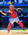 7 March 2010: Washington Nationals' catcher Ivan Rodriguez in action during a Spring Training game against the New York Mets at Tradition Field in Port St. Lucie, Florida. The Mets edged out the Nationals 6-5 in Grapefruit League pre-season play. Mandatory Credit: Ed Wolfstein Photo