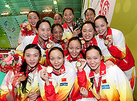 China CHN 1st classified winner of the Trophy.Trophy Final Ranking Day 03 - Dec.2nd.7th FINA Synchronized Swimming  World Trophy.Mexico City MEX - Nov. 30th, Dec. 2nd, 2012.Photo G.Scala/Deepbluemedia/Inside .Nuoto Sincronizzato