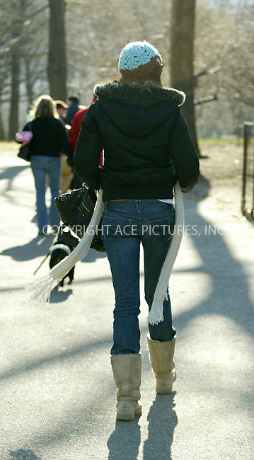 WWW.ACEPIXS.COM . . . . .  ....NEW YORK, FEBRUARY 21 2006....Famke Janssen taking a walk with her dog in Central Park.....Please byline: JENNIFER L GONZELES-ACEPIXS.COM.... *** ***..Ace Pictures, Inc:  ..Philip Vaughan (212) 243-8787 or (646) 769 0430..e-mail: info@acepixs.com..web: http://www.acepixs.com
