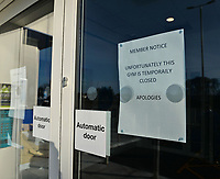 BNPS.co.uk (01202 558833)<br /> Pic: ZacharyCulpin/BNPS<br /> <br /> Coronavirus case closes The Gym in Poole, Dorset.<br /> <br /> A 24 hour gym has been forced to close its doors after one of its members was diagnosed with coronavirus.<br /> <br /> The Gym, in Poole, Dorset, is expected to be shut for three days while its facilities are given a deep clean on the advice of Public Health England.<br /> <br /> In an email sent to members, bosses said that the welfare of its users was of the 'utmost priority' when making the decision.