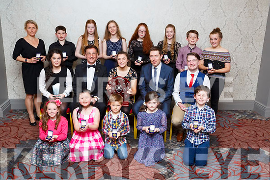 On Sunday studnets of the Yamaha School of Music were presented with their awards and students of the year award in The Ashe Hotel,Tralee from Timoty Schinnick (adjudicater). Front l-r: Orla Buttimer,Cyrena Ong,Torran Millar,Sinead Crean and Seán Óg Mulvihill. Centre l-r: Ciara McCarthy (ist runner up), Timothy Schinnick (adjudacater),Lorrraine Walsh (winner Student of the year),Declan Walsh ( principal Yamaha Schl of Music) and Pierse O'Brien (2nd runner up Yamaha school of music). Back l-r: Sona Bowes,Conall mac Thréinfhir,Yvonne Hurley,Caoimhe Dowling,Ruth O'Connell,Aoife King,Oisín O'Sullivan and Ailíse Ryan.