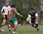 Samisoni Fishulau reaches for the ball. Pat Walsh memorial pre-season rugby game between Manurewa & Waiuku played at Mountfort Park, Manurewa on 5th April, 2008. Waiuku led 12 - 8 at halftime, though Manurewa went on to win 30 - 23.
