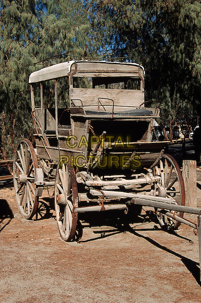 Old antique stagecoach, Amargosa, Death Valley Junction, Inyo County, California, USA