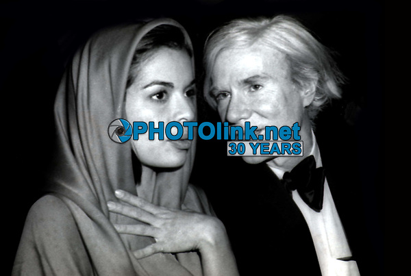 Bianca Jagger Andy Warhol at Studio 54 1978<br /> Photo By Adam Scull/PHOTOlink.net