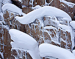 snow, drifts, rock, abstract, Rocky Mountain National Park, Colorado