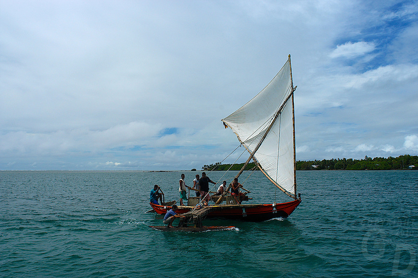 Traditional yapese boat near the small island of yap know Small islands around the world