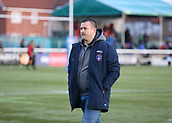3rd February 2019, Trailfinders Sports Ground, London, England; Betfred Super League rugby, London Broncos versus Wakefield Trinity; A very disappointed Wakefield Trinity Head Coach Chris Chester walking back into the tunnel after the final whistle