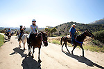 Horseback riders at Sunset Ranch, Los Angeles, CA