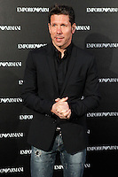 Atletico de Madrid coach Diego Simeone attends the Emporio Armani Boutique opening at Serrano street in Madrid, Spain. April 08, 2013. (ALTERPHOTOS/Caro Marin) /NortePhoto