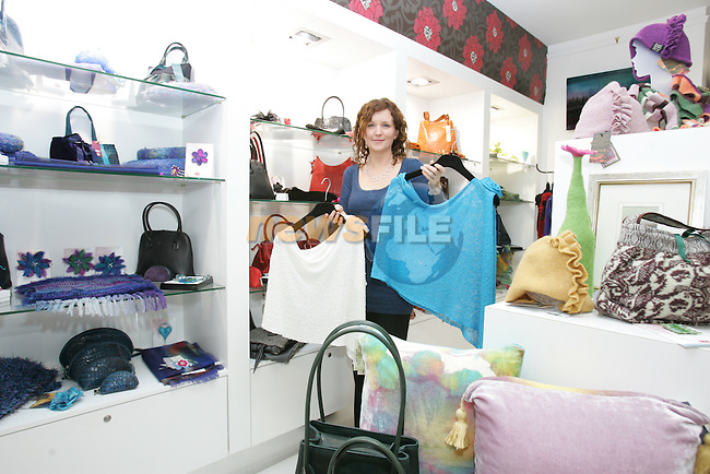 Carina McFeeley from Craftmark in the highlanes gallery in Drogheda..Photo: Fran Caffrey/www.newsfile.ie.