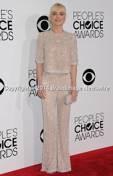 Pictured: Anna Faris<br /> Mandatory Credit &copy; Gilbert Flores /Broadimage<br /> 2014 People's Choice Awards <br /> <br /> 1/8/14, Los Angeles, California, United States of America<br /> Reference: 010814_GFLA_BDG_203<br /> <br /> Broadimage Newswire<br /> Los Angeles 1+  (310) 301-1027<br /> New York      1+  (646) 827-9134<br /> sales@broadimage.com<br /> http://www.broadimage.com