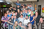 2354-2358 - check surname.KEY TO THE DOOR: Mikey McCarthy, Shanakill, Tralee (seated centre) having a blast at his 21st birthday party in the Slievemish bar, Boherbue, Tralee last Saturday night with family and friends.