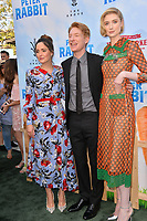 Rose Byrne, Domhnall Gleeson &amp; Elizabeth Debicki at the world premiere for &quot;Peter Rabbit&quot; at The Grove, Los Angeles, USA 03 Feb. 2018<br /> Picture: Paul Smith/Featureflash/SilverHub 0208 004 5359 sales@silverhubmedia.com