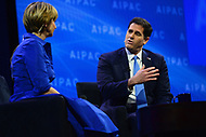 Washington, DC - March 4, 2018: Ron Dermer, Israeli Ambassador the the U.S., addresses attendees of the 2018 American Israel Public Affairs Committee (AIPAC) Public Policy Conference at the Washington Convention Center March 4, 2018.  (Photo by Don Baxter/Media Images International)