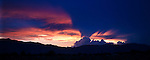 The Sierra sunset, seen from Gardnerville, Nev., on Wednesday, July 3, 2013. <br /> Photo by Cathleen Allison